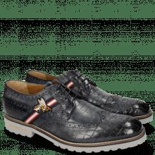 Derby Schuhe Eddy 25 Crock Navy Strap