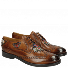 Derby Schuhe Amelie 46 Wood Embroidery