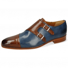 Monk Schuhe Lance 34 Wood Mock Navy