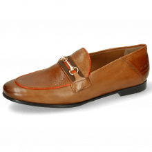 Loafers Scarlett 45 Pisa Tan Binding Fluo Orange