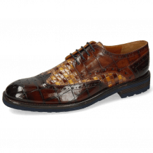 Derby Schuhe Eddy 5 Turtle Mid Brown Woven Multi