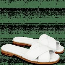 Pantoletten Elodie 14 Nappa White