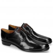 Derby Schuhe Clint 1 Black Deco Pieces Ruby