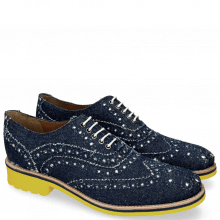 Oxford Schuhe Amelie 10 Denim Blue Underlay White