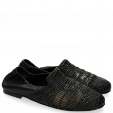 Loafers Jackie 4 Woven Nappa Black