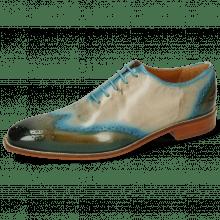 Oxford Schuhe Jeff 42 Khaki Shade Mid Blue Oxygen