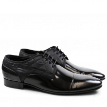 Derby Schuhe Flemming 1 Brush Black Funky Black LS