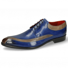 Derby Schuhe Toni 36 Digital Electric Blue