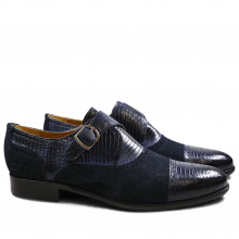 Monk Schuhe Henry 11 Guana Suede Navy Navy HRS