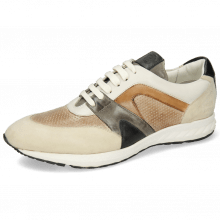 Sneakers Blair 9 Kid Suede Ivory Imola Perfo Powder Nappa White