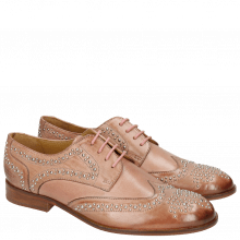 Derby Schuhe Sally 53 Berlin Rivets Soft Natural