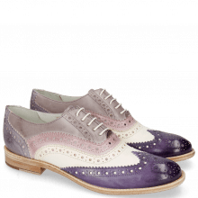 Oxford Schuhe Amelie 10 Vegas Violet White Light Purple Pale Lila