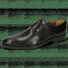 Derby Schuhe Martin 1 Venice Guana Black
