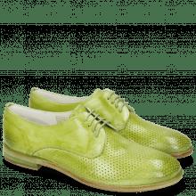 Derby Schuhe Jenny 8 Perfo Mid Green