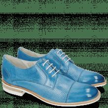 Derby Schuhe Amelie 2 Vegas Perfo Bluette