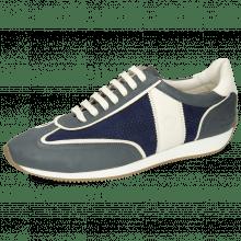 Sneakers Rocky 2 Flex Navy White Oily Suede Big Perfo White