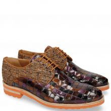 Derby Schuhe Brad 7 Woven Multi 7 Textile Pixel Orange