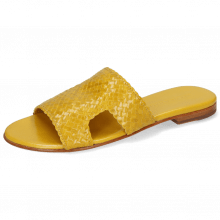 Pantoletten Hanna 74 Woven Yellow Socks Foam