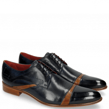 Derby Schuhe Toni 39 Navy Crock Tan