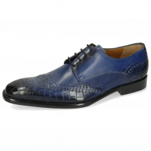 Derby Schuhe Clark 1 Crock Electric Blue Lining