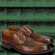 Derby Schuhe Victor 2 Rio Mid Brown Suede Chocolate Tex Blue