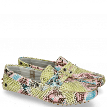 Loafers Caroline 1 Snake Multi Fuxia Thread Flower