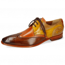 Derby Schuhe Elvis 63 Wood Arancio Sun