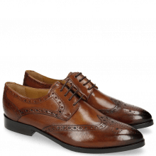 Derby Schuhe Jessy 6 Wood HRS Brown