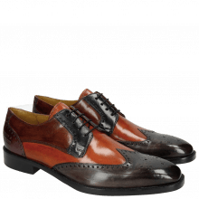 Derby Schuhe Jeff 14 Classic Stone Winter Orange Navy Cognac Violet HRS