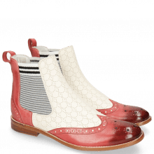 Stiefeletten Amelie 5 Vegas Rich Red Perfo White