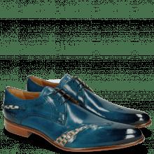 Derby Schuhe Toni 40 Mid Blue Woven Nude