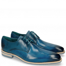 Derby Schuhe Lance 24 Bluette Lasercut Crown