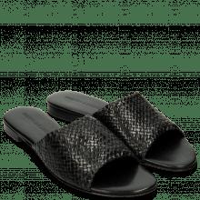 Pantoletten Hanna 5 Woven Black LS Black