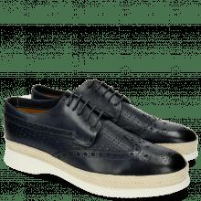 Derby Schuhe Elia 4 Perfo Square Moroccan Blue