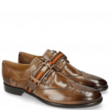 Derby Schuhe Clint 2 New Taupe Buckle Smoke