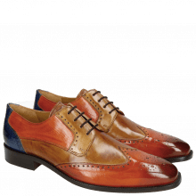 Derby Schuhe Jeff 14 Orange Tan Sand Orange Electric Blue