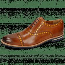Oxford Schuhe Scott 15 Wood Underlay Patent Yellow