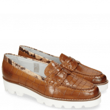 Loafers Mia 1 Turtle Tan Crock Binding Snake Sand