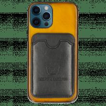 iPhone Hülle Twelve Pro Vegas Yellow Wallet Black