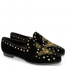 Loafers Scarlett 38 Velluto Black Embroidery