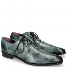 Derby Schuhe Elvis 42  Glicine Embroidery Bee
