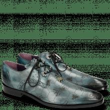 Derby Schuhe Elvis 42  Glicine Embroidery Bee