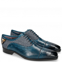Oxford Schuhe Lance 23 Ostrich Mid Blue Bee Patch