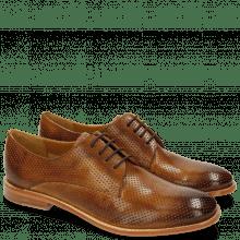Derby Schuhe Amelie 14 Perfo Tan