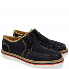 Derby Schuhe Jack 12 Suede Pattini Navy Binding