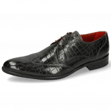 Derby Schuhe Toni 2 Crock Glicine Lining Red Modica Navy
