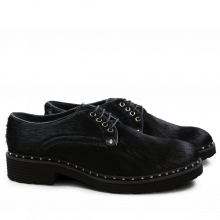 Derby Schuhe Sissy 1 Black Rivets Nickel