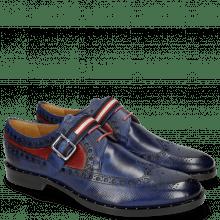 Derby Schuhe Mika 7 Dice Saphir Red Strap