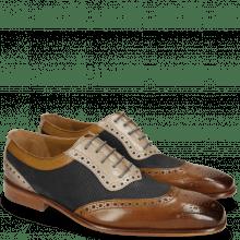 Derby Schuhe Clark 16  Nougat Nubuck Perfo Navy Digital