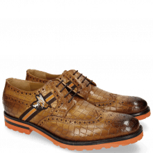 Derby Schuhe Eddy 25 Crock Fango Strap Brown Orange